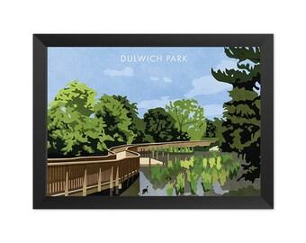 Dulwich Park SE21 - Giclée Art Print - South London Poster