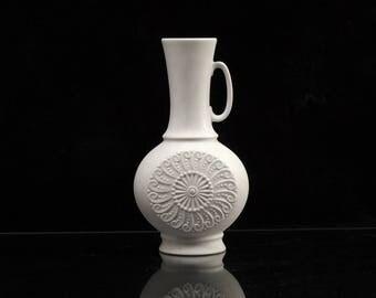 Royal KPM Bavaria Bisque Porcelain Vase Form 720/1 Handmade West German Vintage