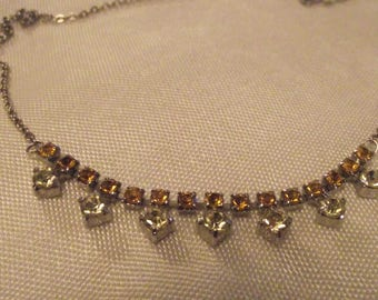 Beautiful vintage necklace peridot topaz colours