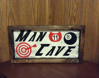 Man cave sign-man cave wall art-mens gifts-man cave decor-garage decor-woodshop sign-inspirational quotes-home decor -tool shop Father's Day