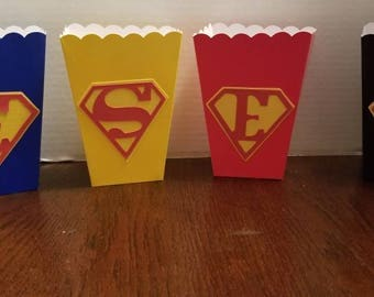 Superman 12pc Treat boxes **Free shipping**