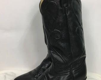 Dan Post cowboy boots/vintage leather cowboy boots size 7.5