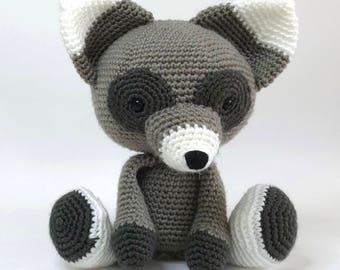 RACCOON - crochet raccoon - amigurumi raccoon - raccoon soft toy
