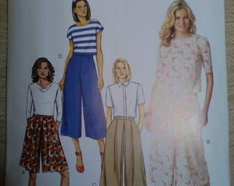 Butterick 6178 culottes new unused sewing pattern fast easy sew
