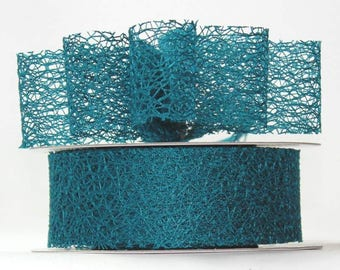 "Teal Mesh Ribbon- 1.5"" x 20 yds"