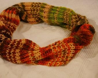 Autumn leaves scarf