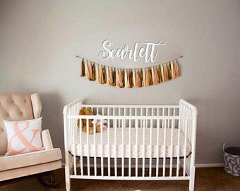 Wooden Baby Name Sign, Nursery, Childrens Room, Baby Shower