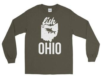 Fish Ohio Fishing Long Sleeve T-shirt   Fishing Apparel
