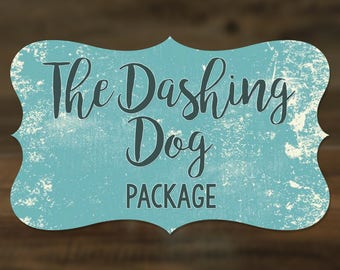 The Dashing Dog Package - Fabric Collar, Leash and Bowtie - Spoiled Dog Package