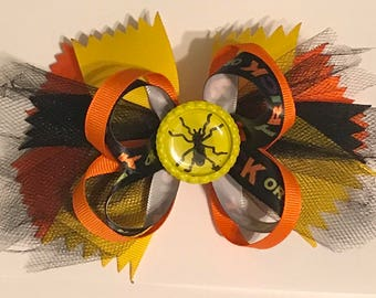 Halloween boutique hair bow