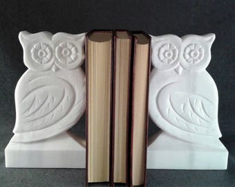 Gift Book Lover, Handmade Marble Bookend, Office Desk Accessories