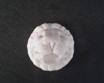 Vintage gift, Lion Figurine, Handmade Marble Sculpture, Greek marble art