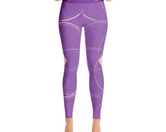 Violet and Pink Yoga Leggings