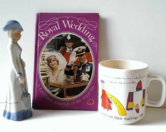 Quirky Hornsea Royal Wedding commemorative mug dating from 1981. PLUS, the Ladybird Royal Wedding commemorative book too!