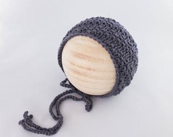 Elm Bonnet, newborn photography prop, knit bonnet prop