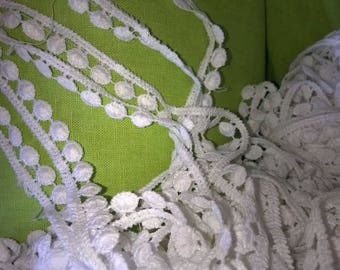 2 m of lace bells white-collar 1.2 cm