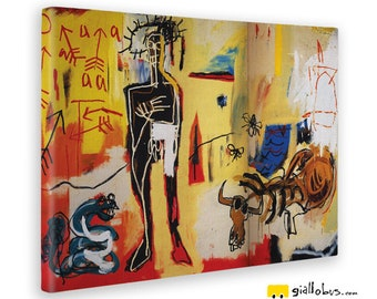 Modern paintings-Jean Michel Basquiat-UAAA-Yellow BUS