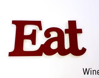 Eat Sign   Kitchen Decor   Eat Wall Decor   Farmhouse Decor   Rustic Eat  Sign