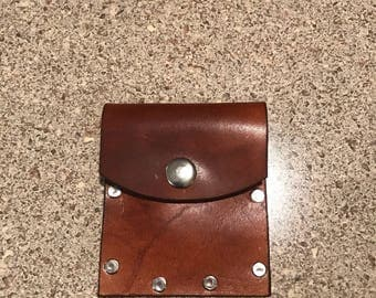 Coin pouch made of quality leather