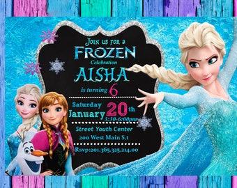 Frozen Invitation, Frozen Birthday Invitation, Frozen Party, Frozen Printable