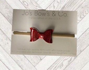 Baby Headband Bows - Baby Girl headband - hair bows - Baby Bows - hair bows for babies - Felt Bows- baby hair bows