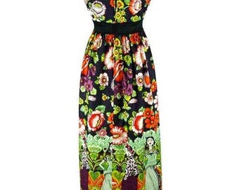 Women's Frida and catrinas  maxi  dress
