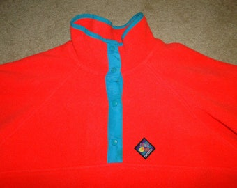 Vintage Woolrich 90s Sweater Pullover Hip Hop Colorful made in USA Sz M WOMEN