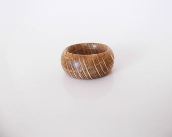 Wooden ring made from larch