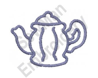 Teapot - Machine Embroidery Design