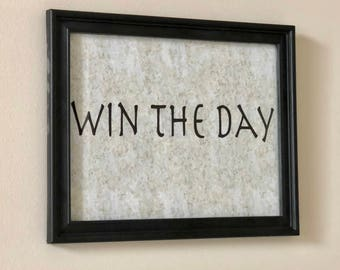 Printable Win The Day Inspirational 8x10 Poster