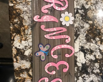 Princess Filigree plank sign