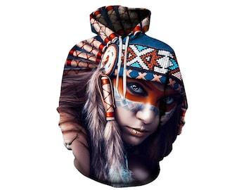 Tribe Hoodie, Tribe, Tribe Hoodies, Animal Prints, Animal Hoodie, Animal Hoodies, Tribe, Hoodie, 3d Hoodie, 3d Hoodies - Style 1