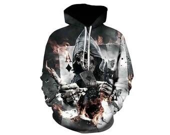 Skull Hoodie, Skull, Skull Hoodies, Skull Prints, Scalp Hoodie, Gothic, Skeleton, Skulls, Scalp, Hoodie, 3d Hoodie, 3d Hoodies - Style 9