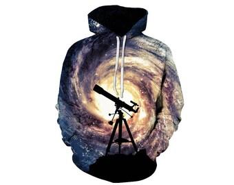 Galaxy Hoodie, Galaxy Sweatshirt, Galaxy, Galaxy Jumper, Galaxy Hoodies, Space, Space Hoodie, 3d Hoodie, 3d Hoodies, Hoodie - Style 36