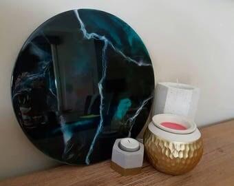 Abstract Resin Art Piece - 30cm Porthole