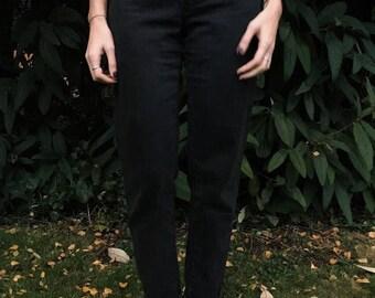 High Waisted Vintage Mom's Jean - Washed Black/Black - Size 25