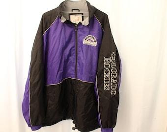 Vintage 90s Vintage Colorado Rockies Pro Jacket - XXL