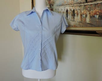 Womens Size Medium Blue Blouse
