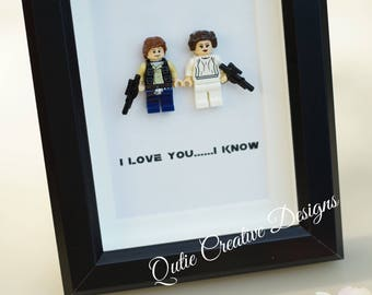 Star Wars Lego minifigures Princess Leia Han for daddy husband birthday anniversary gift inspired by LEGO