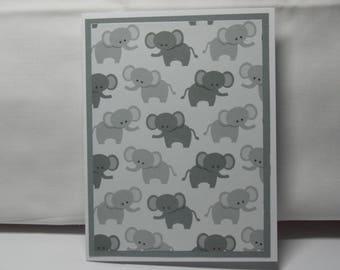 Little Grey Elephant Note Card Set