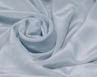 "Sample/Yards/Meters 100% Pure Mulberry Silk Fabric Crepe De Chine 55""/140cm wide 14momme DressMaking Material Kentucky blue crepe 20W-14mmW"