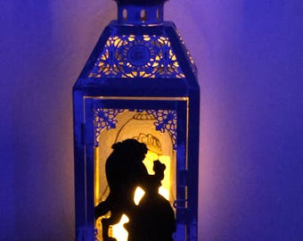 Disney Beauty and The Beast Lighted Lantern