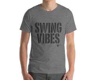 Swing Dance Shirt: Swing Vibes  Men's Short-Sleeve T-Shirt \ Vintage style dance    Swing Swag Dance Shirt