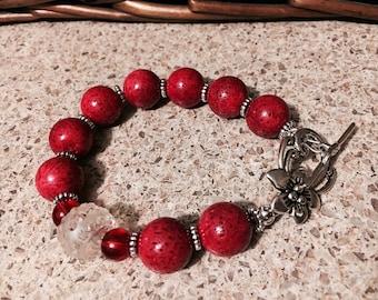 Red Sponge Coral Bracelet