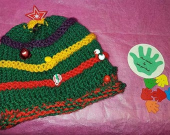 Evergreen Christmas Hat