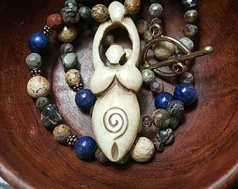 Earth Mother Goddess Necklace