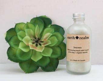 Journey , Rejuvenating mask, french green clay, organic matcha, clay mask, organic skincare, all-natural facial products, vegan, non toxic