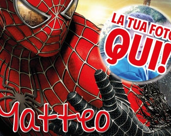 "Breakfast placemat A3 plasticized ""Spiderman"" with photo"