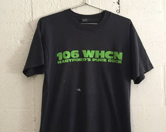 Vintage 106 WHCN Radio Station Pure Rock Hartford CT St Patricks Day T Shirt L