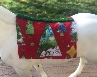 Holiday Themed Traditional Model Horse Saddle Pad